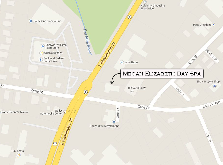 megan elizabeth day spa address, 90 orne street, north attleboro, ma